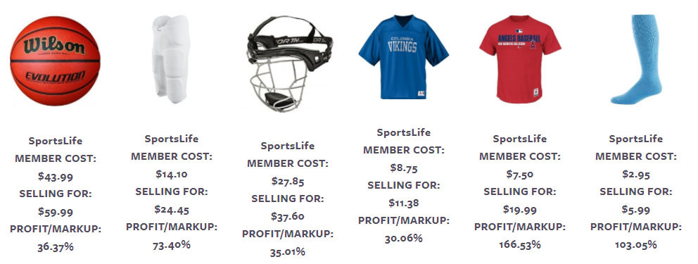 Wholesale Sporting Good Sample Pricing